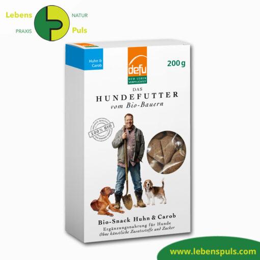 Defu Felderzeugnisse Bio Hundefutter Snack Huhn und Carob 1