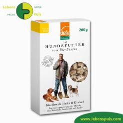 Defu Felderzeugnisse Bio Hundefutter Snack Huhn und Dinkel 1