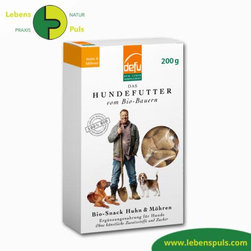 Defu Felderzeugnisse Bio Hundefutter Snack Huhn und Moehre 1