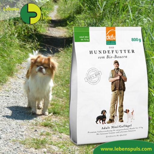 Defu Felderzeugnisse Bio Hundefutter Trockenfutter Adult Mini Gefluegel