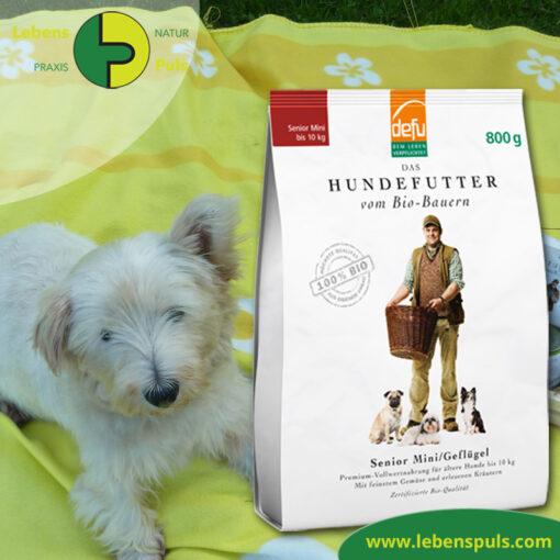 Defu Felderzeugnisse Bio Hundefutter Trockenfutter Senior Mini Gefluegel