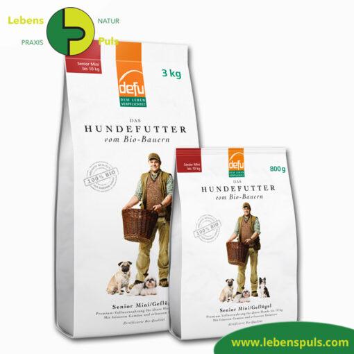 Defu Felderzeugnisse Bio Hundefutter Trockenfutter Senior Mini Gefluegel 1