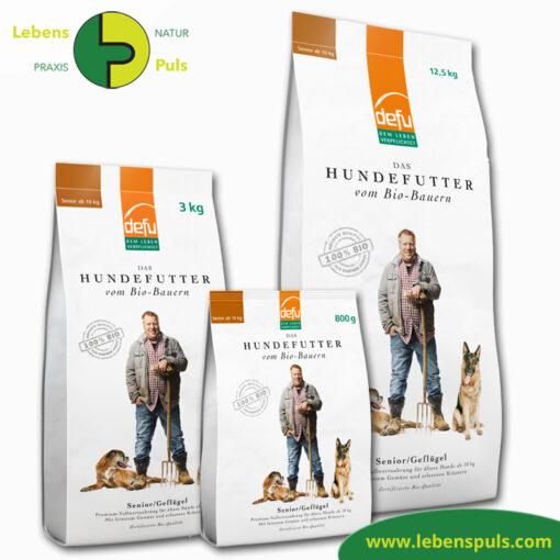 Defu Felderzeugnisse Bio Hundefutter Trockenfutter Senior Gefluegel 1