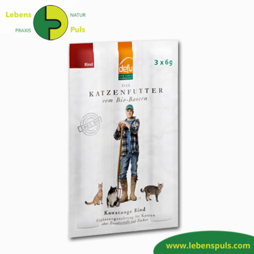 Defu Felderzeugnisse Katzenfutter Kaustange Rind 1