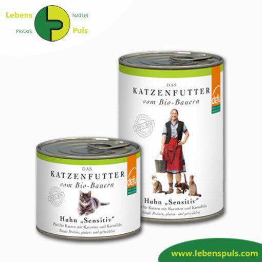 Defu Felderzeugnisse Bio Katzenfutter Nassfutter Huhn 1