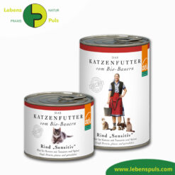 Defu Felderzeugnisse Bio Katzenfutter Nassfutter Rind Sensitiv 1