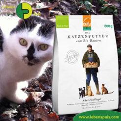 Defu Felderzeugnisse Bio Katzenfutter Trockenfutter Adult Gefluege