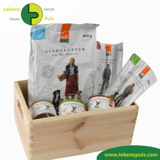 Defu Felderzeugnisse Bio Hundefutter Geschenk Box 1