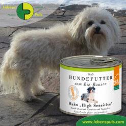 Defu Felderzeugnisse Bio Hundefutter Nassfutter Huhn High Sensitiv Getreidefrei