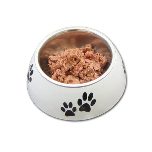 Futternapf mit Bio Katzen Nassfutter von Defu
