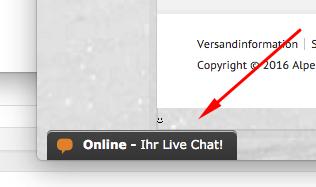 Nutzen Sie den Live Chat