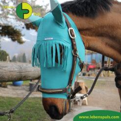 VetMedCare Tierbedarf Pferd Kopf Ohrenschutz mit Stirnfransen