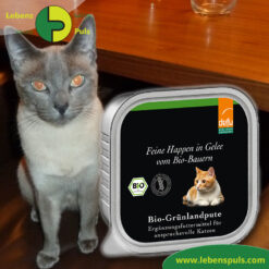 Defu Felderzeugnisse Bio Katzen Nassfutter Feine Happen in Gelee Gruenland Pute