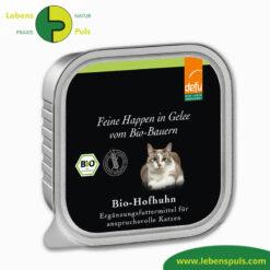 Defu Felderzeugnisse Bio Katzen Nassfutter Feine Happen in Gelee Hof Huhn Produkt